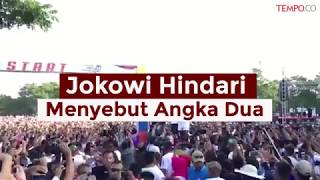 Hitung Mundur, Jokowi Hindari Menyebut Angka Dua