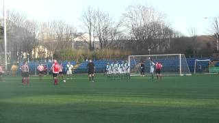 Daniel Wade saves again Laxey v Peel Master (6-2) 8 March 2015