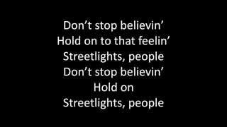 Timeflies - Don't Stop Believin' Lyrics