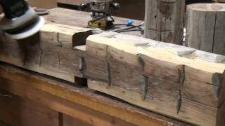 Trestlewood Hand-Hewn Mantel