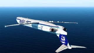Flying Inverted - Alaska Airlines Flight 261 - P3D