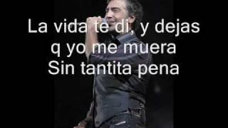 Sin tantita pena - Alejandro fernandez (con letra)