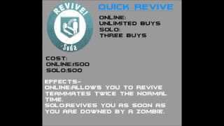 Black Ops 2 Zombies-What Every Perk-A-Cola Does