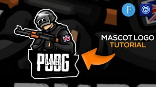 How To Make Pubg Mascot Logo On Android/Pubg Mascot Logo Tutorial/Pubg Gaming Logo Tutorial