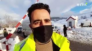 Les soldats de la neige de la DPETLE mobilisés pour assurer la fluidité de la circulation à Ifrane
