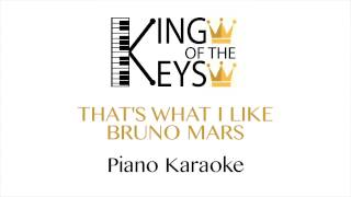 Bruno Mars - That's What I Like (Piano Karaoke LYRICS)