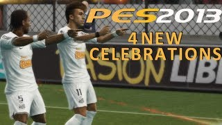PES 2013 New Celebrations feat  Neymar Nani Damião Chamberlain