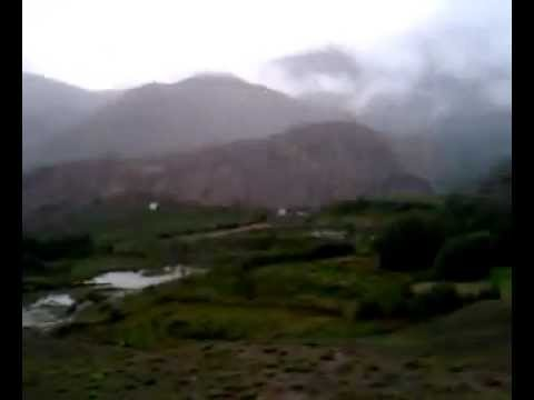 Rainy mountain road to Jharkot. Mustang.Nepal 2011