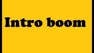 intro boom sound effect free download