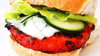 How To Make Tandoori Chicken Burger - Video Recipe