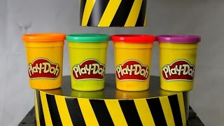 EXPERIMENT HYDRAULIC PRESS 100 TON vs Play Doh width=