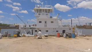 Redone with sound view almost completed vessel and yard