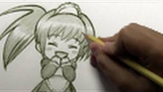 """How to Draw a """"Happy-Cute Chibi"""" [HTD Video #4]"""