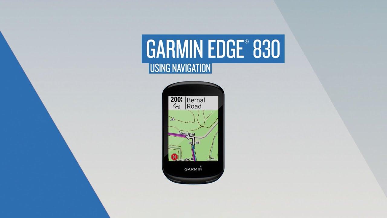 Garmin Edge 830: Using Navigation