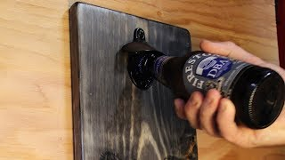 DIY Wall-Mount Bottle Opener