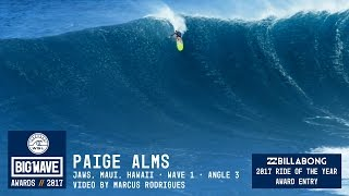 Paige Alms at Jaws 3 - 2017 Billabong Ride of the Year Entry - WSL Big Wave Awards