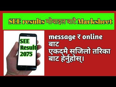 Download thumbnail for SEE परीक्षाको marksheet