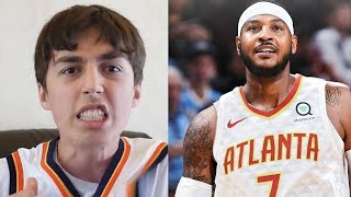 CARMELO ANTHONY TRADED TO THE HAWKS REACTION