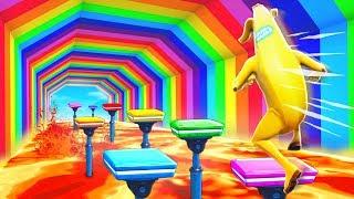 Insane Fortnite Rainbow Parkour Challenge
