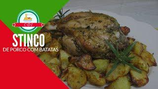 Receita facil de Stinco de porco com batatas ao forno - Culinaria Direto da Italia