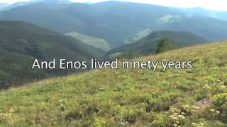 Genesis 5:9 - And Enos lived ninety years, and begat Cainan - Bible Verses for Presentations