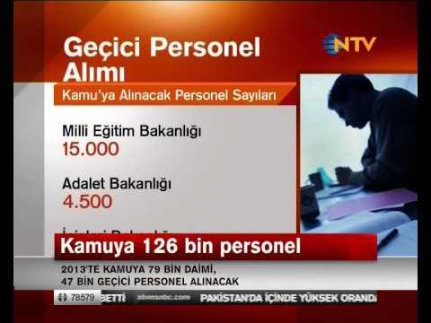 kamu personel alimları 2013 haberi ntv