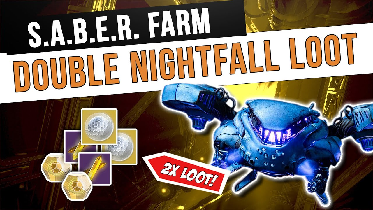 DOUBLE Loot Drops! Fallen S.A.B.E.R. Nightfall Farm   Destiny 2 Season of the Chosen