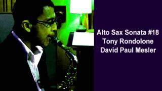 Alto Sax Sonata #18 -- Tony Rondolone, David Paul Mesler