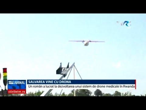 Un român a lucrat la dezvoltarea unui sistem de drone medicale în Rwanda