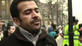 """Près de 500 manifestants à Londres : """"Kadhafi doit partir"""""""