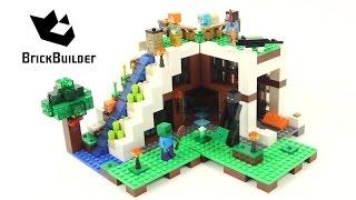 Lego Minecraft 21134 The Waterfall Base - Lego Speed Build width=