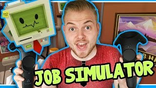 SquiddyPlays - JOB SIMULATOR (HTC Vive) - OFFICE WORKER!!
