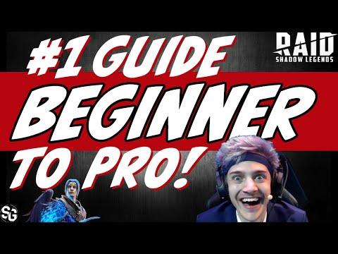 Beginner to NINJA start RAID right! Raid Shadow Legends Beginner guide early game guide