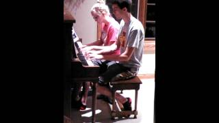 Pursuit of Happiness- Kid Cudi (Steve Aoki remix) (Piano cover by Kylie Hogue and Ian Mcdowell)