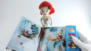 Mini Pelúcia + Livro Play-a-Sound Sereia Ariel Princesas Disney