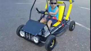 Kart Cross Mini 52cc, motor de roçadeira