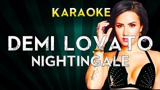 Demi Lovato - Nightingale | Official Karaoke Instrumental Lyrics Cover Sing Along