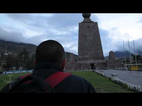 Dancing on the Equator at the Quito Monument // Jet Set Zero