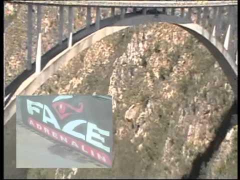 Gui Carva's Highest (216 Meters) Bungee Jump in the World – Bloukans Bridge, South Africa.