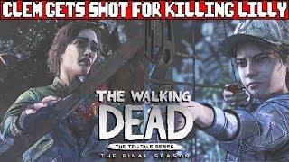 Clementine Gets Shot for Killing Lilly - THE WALKING DEAD TELLTALE SEASON 4