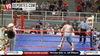Nicholas Gallo vs. Jeff Williams Chicago Golden Gloves