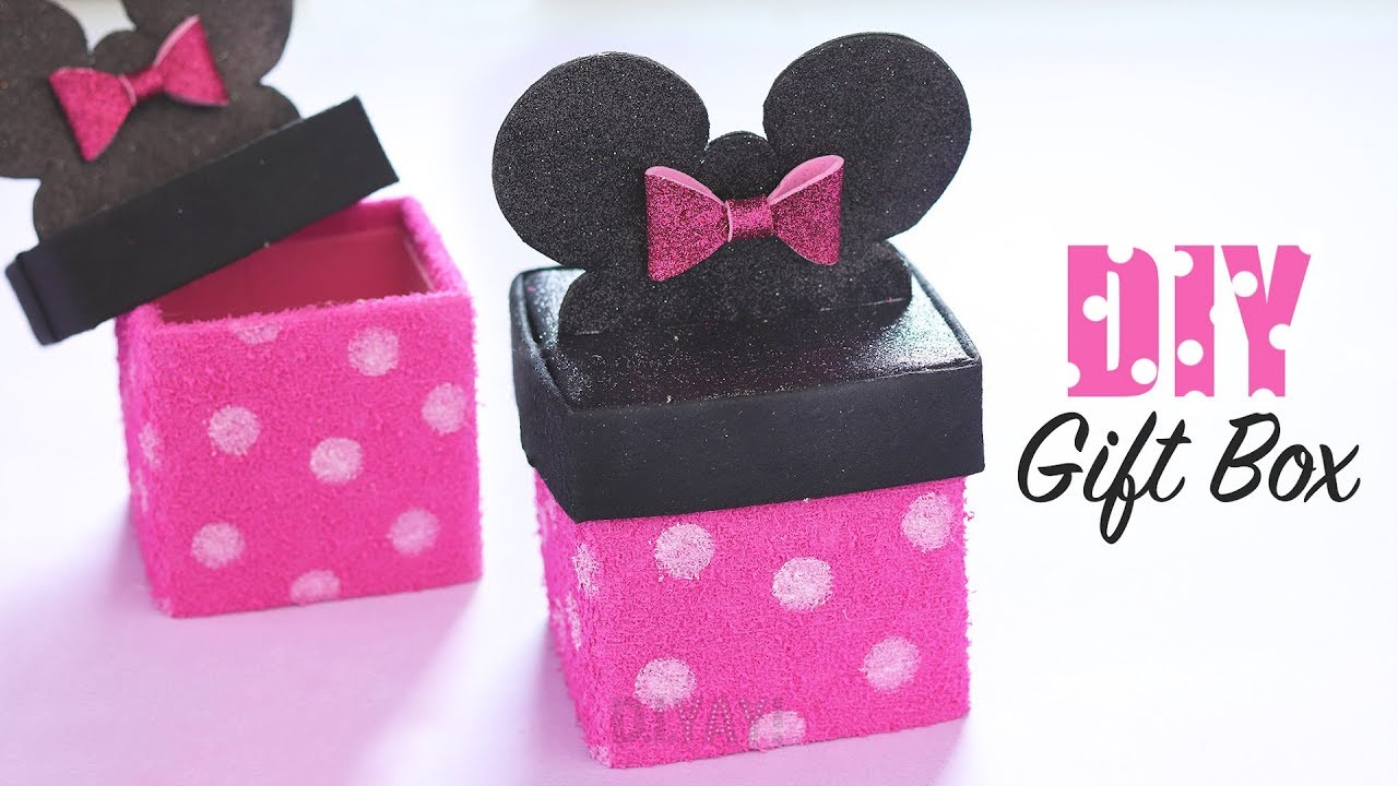 Minnie Mouse Gift Box | DIY Gift Box Ideas | Gift Ideas |