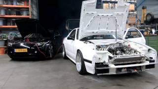 John Huijben 4-Rotor (26b) Mazda RX-7 FC promo/1st start