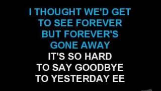 Boyz II Men - It's So Hard To Say Goodbye To Yesterday (Karaoke)