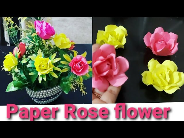 Download How To Make Rose Flowers Easy To Way At Home Paper Flower Making Ideas Youtube Thumbnail Create Youtube