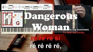 Dangerous Woman Ariana Grande Educacao Musical Karaoke notas flauta piano acordes guitarra