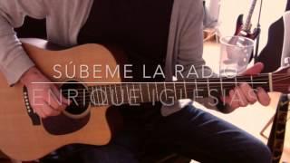 Subeme la radio Enrique Iglesias guitarra acordes tutorial
