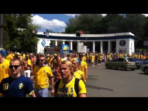 Swedish fans at Euro 2012 (Kiev, Ukraine)