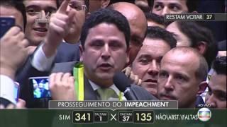 Voto decisivo  a favor do  impeachment de Dilma Rousseff (É tetra)