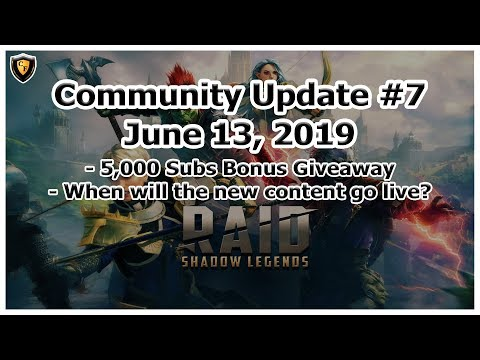 RAID: Shadow Legends - Community Update #7 - 5,000 Subs Bonus Giveaway